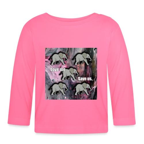 Love me. Save us. Elefanten - Baby Langarmshirt