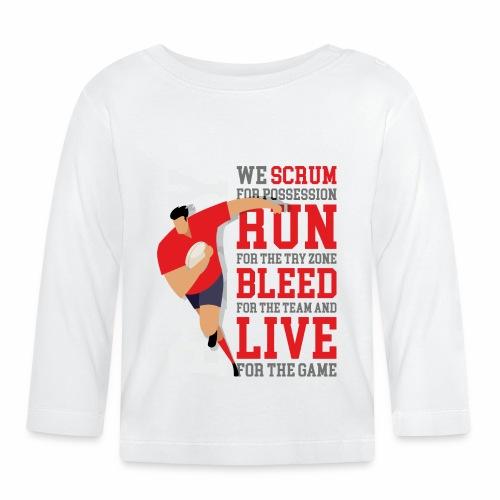 MarPlo Scrum Run Live Red - Maglietta a manica lunga per bambini