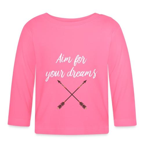 Aim for your Dreams white - Vauvan pitkähihainen paita