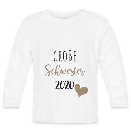 Große Schwester 2020 - Baby Langarmshirt