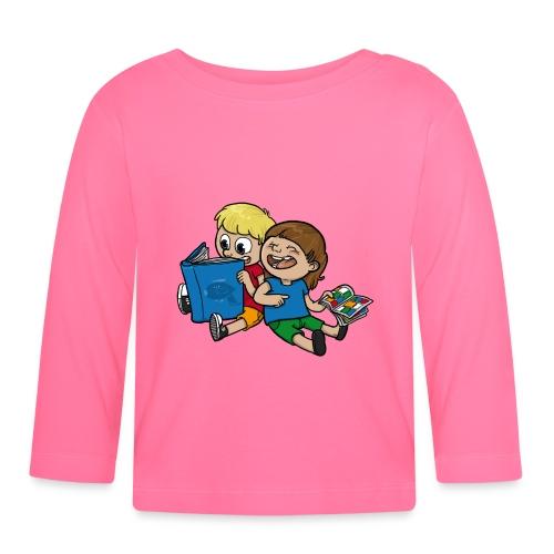 Kinder, lest mehr Bücher und Comics! - Baby Langarmshirt
