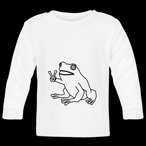 Funny Animal Frog Frosch - Baby Langarmshirt