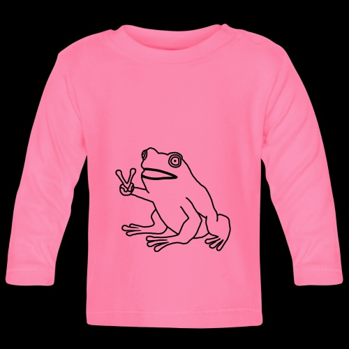 Funny Animal Frog Frosch - Baby Langarmshirt