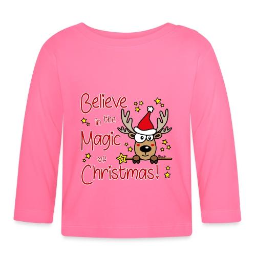 Renne, Magic of Christmas, Happy Christmas, Noël - T-shirt manches longues Bébé