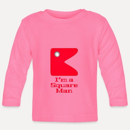 Square man red - Baby Long Sleeve T-Shirt