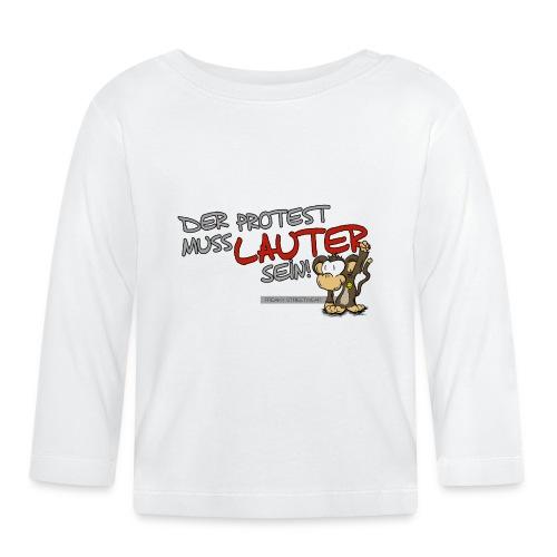 Protest-Äffchen1 - Baby Langarmshirt