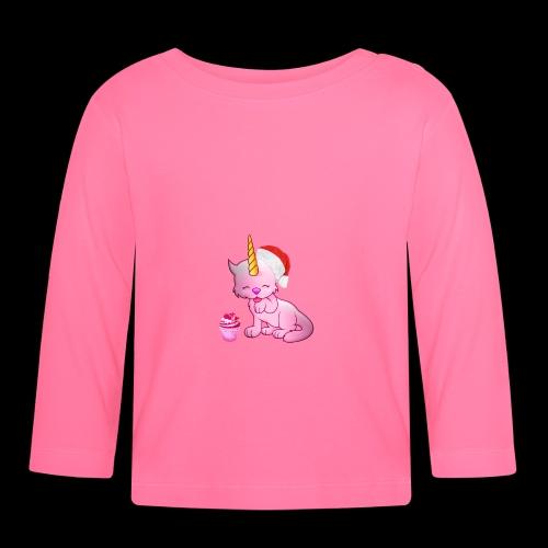 Licorne père noël - T-shirt manches longues Bébé