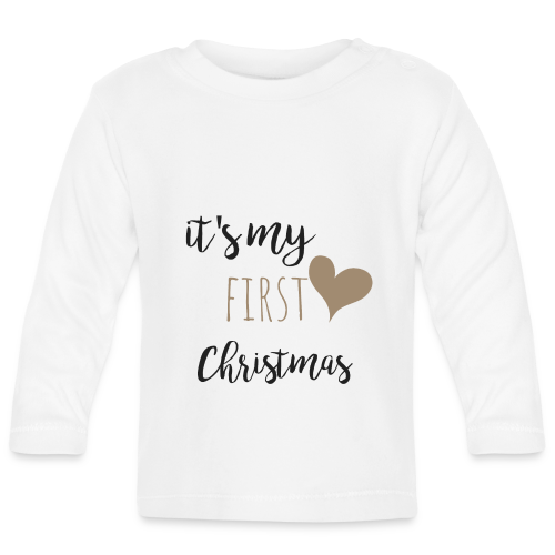 it's my first christmas - Baby Langarmshirt