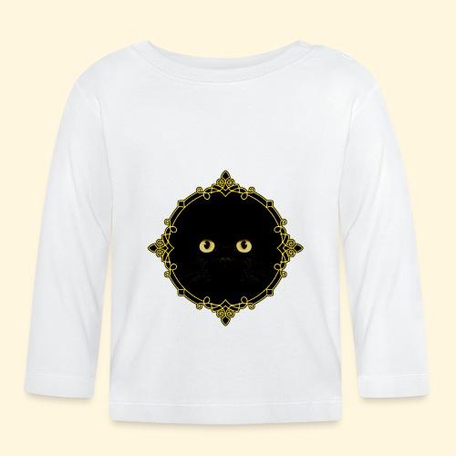 Badge Chat Noir - Pixel Art - T-shirt manches longues Bébé