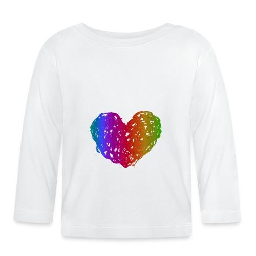 Coeur arc-en-ciel - Baby Langarmshirt