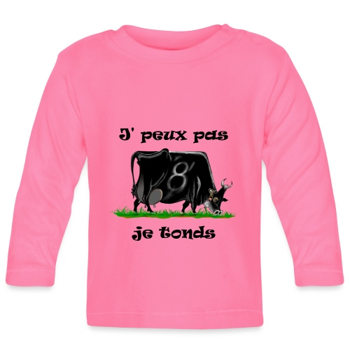 vache, vaches, bétail, Je peux pas je tonds - T-shirt manches longues Bébé