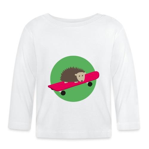 Igel mit Skateboard - Baby Langarmshirt