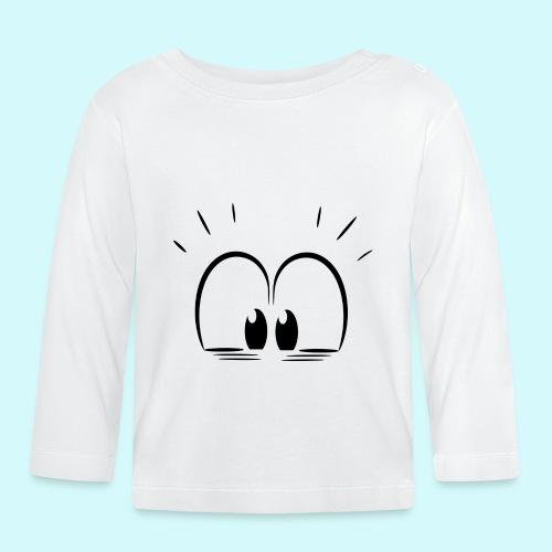 Überraschung Blick - Baby Langarmshirt
