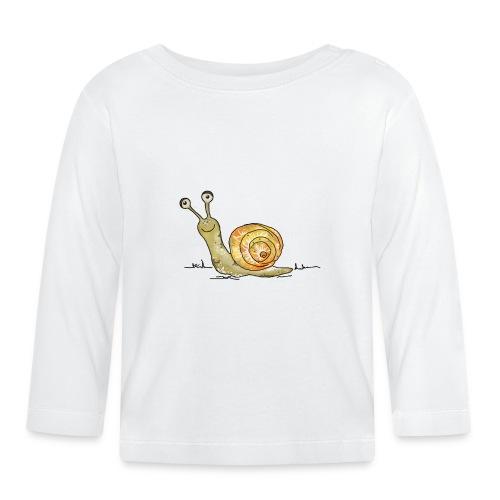 Lustige Schnecke - Baby Langarmshirt