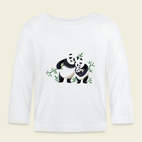 Pandafamilie Baby - Baby Langarmshirt