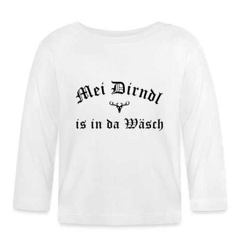 Mei Dirndl is in da Wäsch - Hirsch - Baby Langarmshirt