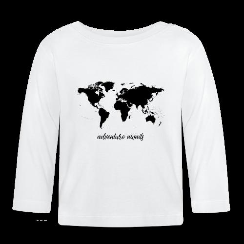 adventure awaits - Weltkarte - Baby Langarmshirt