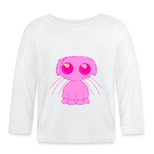lurvig neonrosa kawaii anime doodle hund - Baby Long Sleeve T-Shirt