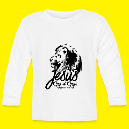 JESUS - KING OF KINGS - Revelations 19:16 - LION - Baby Long Sleeve T-Shirt