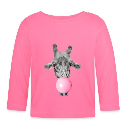 Giraffe bubblegum - Baby Long Sleeve T-Shirt