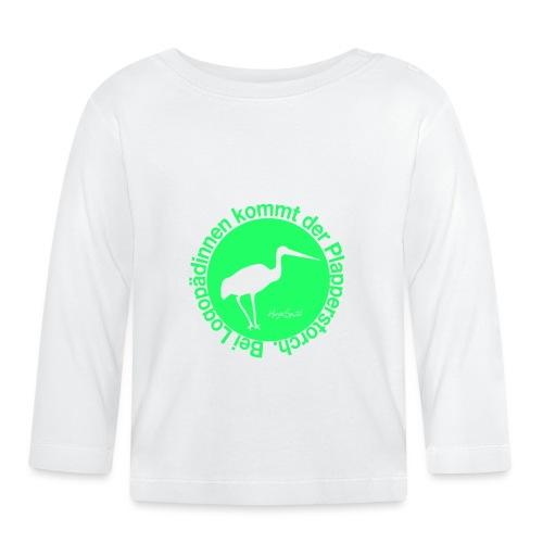 Plapperstorch - Baby Langarmshirt