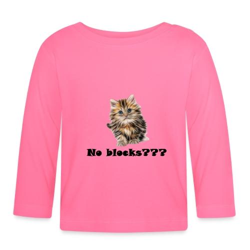 No block kitten - Langarmet baby-T-skjorte
