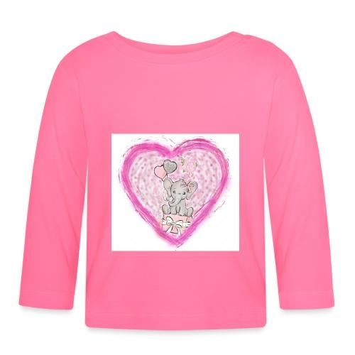 Your-Child pink heart - Langærmet babyshirt