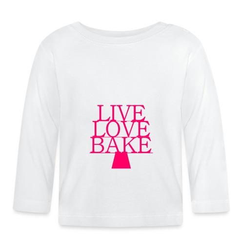 LiveLoveBake ekstra stor - Langærmet babyshirt