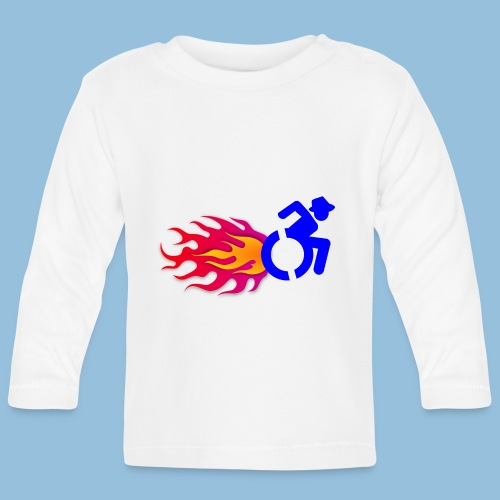 Wheelchair with flames 012 - T-shirt