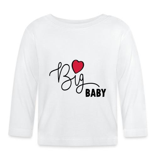 Slogan Big baby. Grote baby met hartje. Hartjes - T-shirt