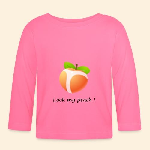 Look my peach - T-shirt manches longues Bébé
