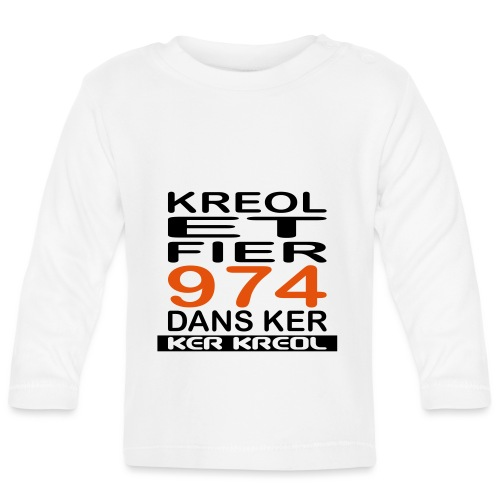 974 ker kreol - Kreole et Fier - T-shirt manches longues Bébé