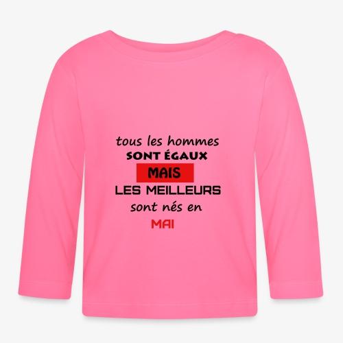 les meilleurs sont nés en mai - T-shirt manches longues Bébé