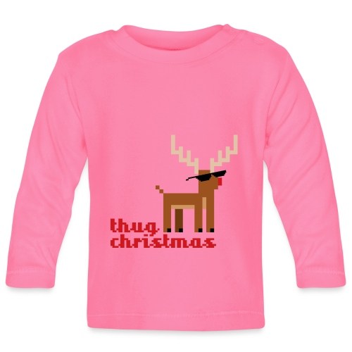 Rudolph the Red Nosed Reindeer Pixel - Baby Long Sleeve T-Shirt