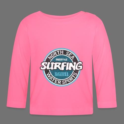 North Sea Surfing (oldstyle) - Koszulka niemowlęca z długim rękawem
