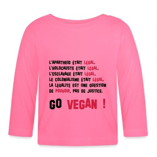 GO VEGAN - T-shirt manches longues Bébé