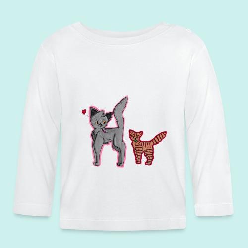 cat and kitten - Vauvan pitkähihainen paita