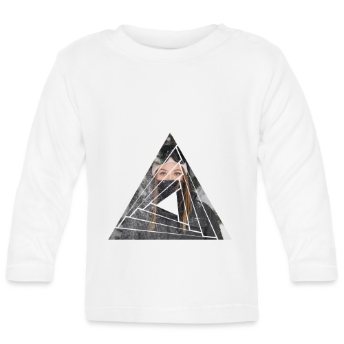 Snow Girl Triangle Graphic Design - Baby Langarmshirt