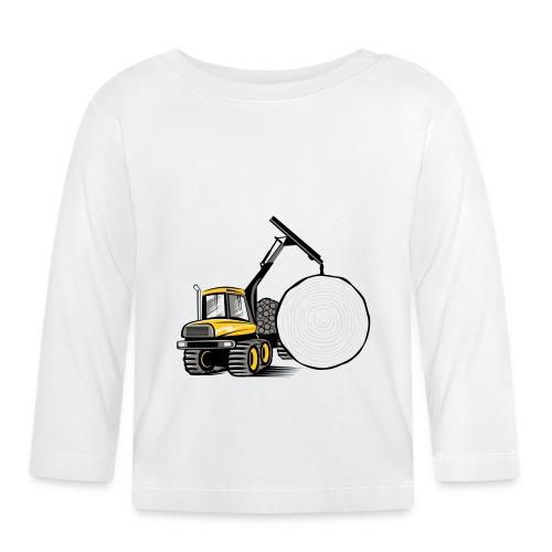 Kuormatraktori t paidat, hupparit, lahjatuotteet - Vauvan pitkähihainen paita