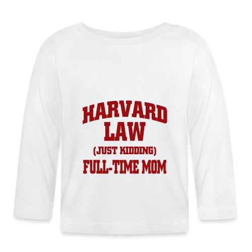 harvard law just kidding - Koszulka niemowlęca z długim rękawem
