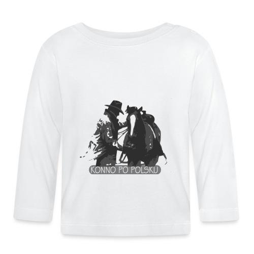 horse2 - Koszulka niemowlęca z długim rękawem