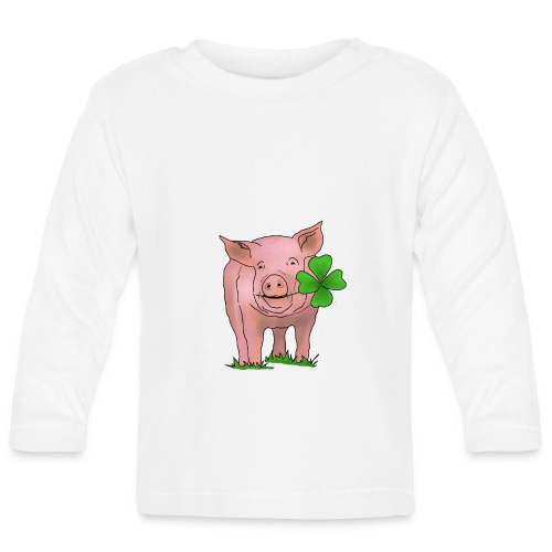 Glücksschwein - Baby Langarmshirt