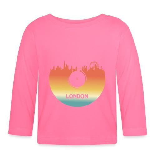 London Skyline Vinyl Schallplatte London Souvenir - Baby Langarmshirt