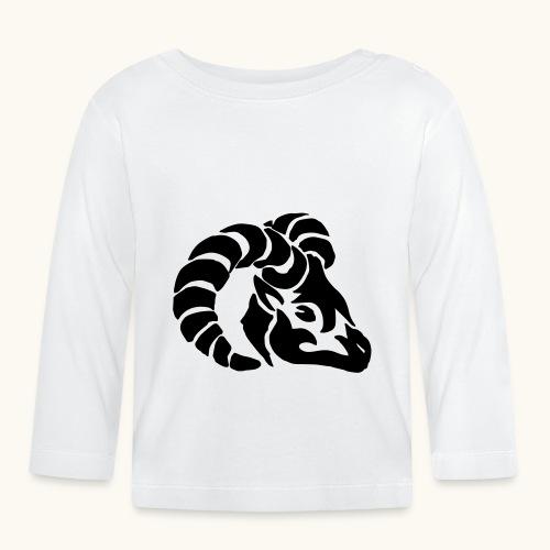 Tribal Widderkopf Sternzeichen Geschenk Widder - T-shirt manches longues Bébé