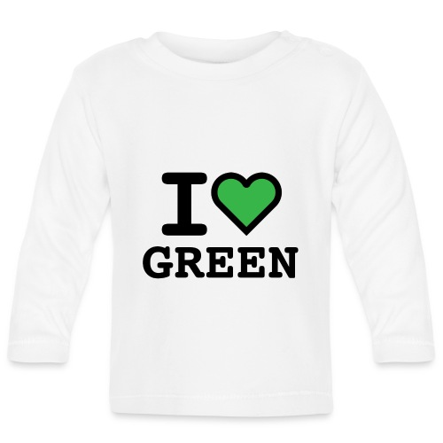 i-love-green-2.png - Maglietta a manica lunga per bambini
