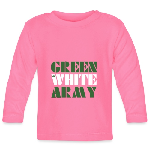 GREEN & WHITE ARMY _STENCIL_3 - Baby Long Sleeve T-Shirt