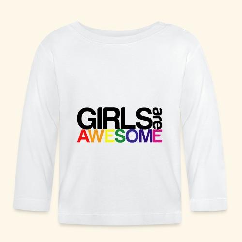 Girls are awesome - Koszulka niemowlęca z długim rękawem