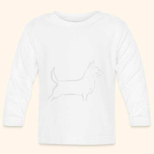 Lancashire Heeler, valkoinen - Vauvan pitkähihainen paita
