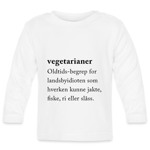 Vegetarianer definisjon - Langarmet baby-T-skjorte