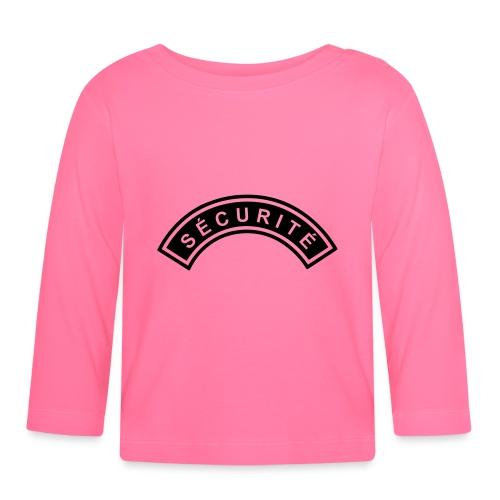 Ecusson Sécurité demilune - T-shirt manches longues Bébé